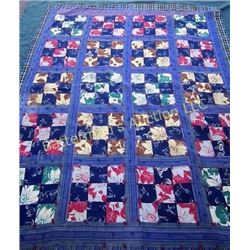 Quilt Checkerboard w/ Flowers