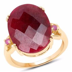 STERLING SILVER CHECKER BOARD RUBY RING