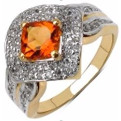 STERLING SILVER MADEIRRA CITRINE RING