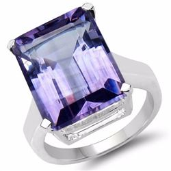 STERLING SILVER BRAZILIAN AMETHYST RING