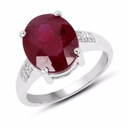 STERLING SILVER BURMAI RUBY RING