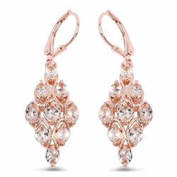 STERLING SILVER MORGANITE EARRING