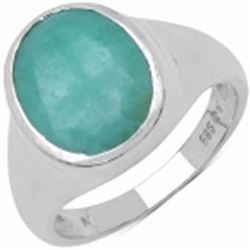 STERLING SILVER SAKOTA EMERLAD RING