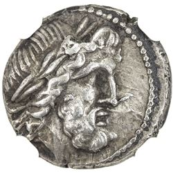 ACHAEAN LEAGUE: PATRAI: Anonymous, ca. 196-146 BC, AR hemidrachm (2.33g). NGC EF