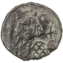 BYZANTINE EMPIRE: Theodosius III of Adramytium, 715-717, AE follis (4.76g), Syracuse, ND. VF
