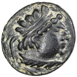 "YUEH CHI: ""Heliocles"", 1st century BC, AE drachm (3.20g). VF-EF"