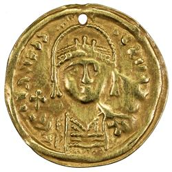 ARAB-BYZANTINE: Anonymous, 7th-10th century, AV burial piece (0.81g). VF
