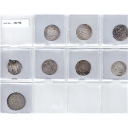 UMAYYAD: LOT of 7 Umayyad dirhams and 1 Arab-Sasanian drachm