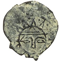 KARAMANID: Anonymous, 9th century, AE mangyr (0.79g), Konya, ND. F-VF