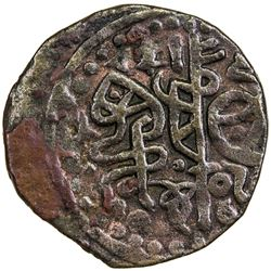 GREAT MONGOLS: temp. Chingiz Khan, 1206-1227, AE jital (4.24g), Qunduz, ND. VF