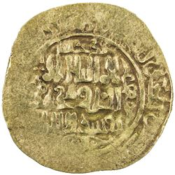 GREAT MONGOLS: Anonymous, ca. 1220s-1230s, AV dinar (4.14g), Badakhshan, ND. VF