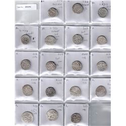 BARAKZAI:LOT of 18 silver rupees