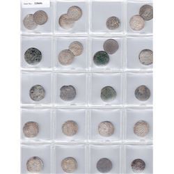 MEDIEVAL ISLAMIC:LOT of 25 silver dirhams