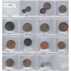 CENTRAL ASIA:LOT of 15 copper coins & 2 silver coins