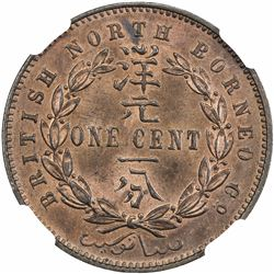 BRITISH NORTH BORNEO: Victoria, 1881-1901, AE cent, 1890-H