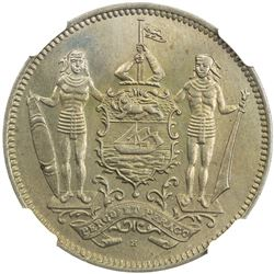 BRITISH NORTH BORNEO: 5 cents, 1928-H. NGC MS65