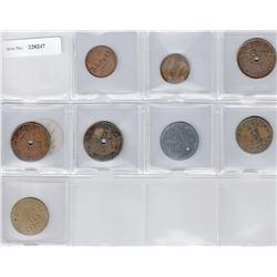 CEYLON:LOT of eight 19th century tokens