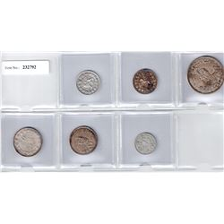 IRAN:LOT of 6 silver coins