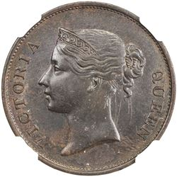 STRAITS SETTLEMENTS: Victoria, 1837-1901, cent, 1845. NGC MS61