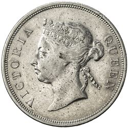 STRAITS SETTLEMENTS: Victoria, 1837-1901, AR 50 cents, 1899. EF