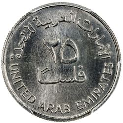 UNITED ARAB EMIRATES: 25 fils, 1984/AH1404. PCGS SP66