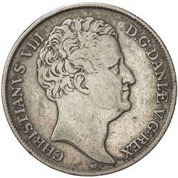 DENMARK: Christian VIII, 1839-1848, AR speciedaler, 1846. F