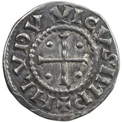 FRANCE: Louis I the Pious, 814-840, AR denier (1.57g). VF