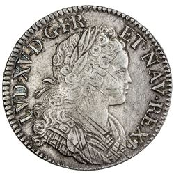 FRANCE: Louis XV, 1715-1774, AR ecu, 1718-A. EF-AU