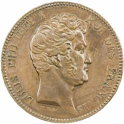 FRANCE: Louis Philippe, 1830-1848, AE pattern, 1845. AU