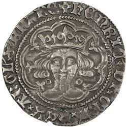 ENGLAND: Henry VI, 1422-1461, 1470-1471, AR groat, ND (1422-30). VF