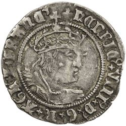 ENGLAND: Henry VIII, 1509-1547, AR groat, ND (1526-44). VF