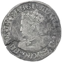 ENGLAND: Mary, 1553-1554, AR groat, ND. F-VF