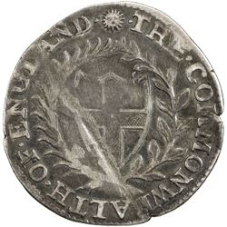 ENGLAND: Commonwealth, 1649-1660, AR sixpence, 1652. F-VF