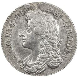 GREAT BRITAIN: James II, 1685-1688, AR sixpence, 1687. EF