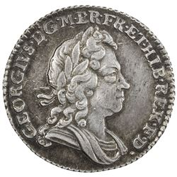 GREAT BRITAIN: George I, 1714-1727, AR sixpence, 1723. EF-AU