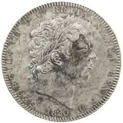 GREAT BRITAIN: George III, 1760-1820, AR crown, 1820. EF