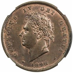 GREAT BRITAIN: George IV, 1820-1830, penny, 1826. NGC MS64