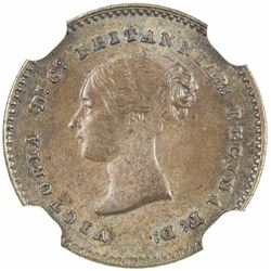 GREAT BRITAIN: Victoria, 1837-1901, AE 1/2 farthing, 1839. NGC MS64