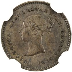 GREAT BRITAIN: Victoria, 1837-1901, AE 1/2 farthing, 1852. NGC MS62