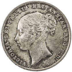 GREAT BRITAIN: Victoria, 1837-1901, AR shilling, 1842. AU