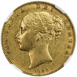 GREAT BRITAIN: Victoria, 1837-1901, AV sovereign, 1838. NGC AU53