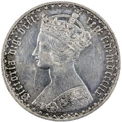 GREAT BRITAIN: Victoria, 1837-1901, AR florin, 1859. EF