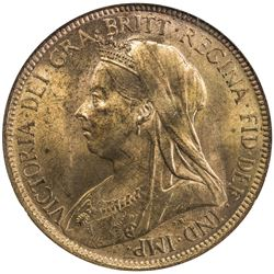 GREAT BRITAIN: Victoria, 1837-1901, AE halfpenny, 1901. NGC MS65