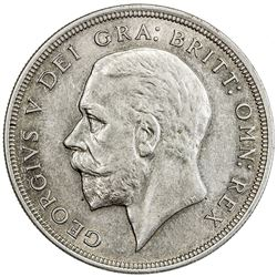 GREAT BRITAIN: George V, 1910-1936, AR crown, 1929. AU
