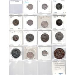 GREAT BRITAIN: Lot of 15 coins