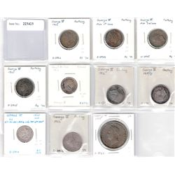 GREAT BRITAIN: Lot of 10 coins
