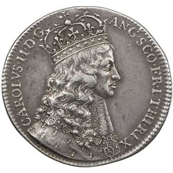 GREAT BRITAIN: Charles II, 1660-1685, AR coronation medal (7.79g), 1661. VF