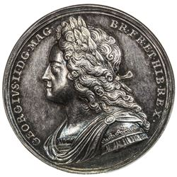GREAT BRITAIN: George II, 1727-1760, AR coronation medal (18.54g), 1727. NGC AU58