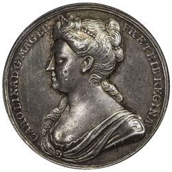 GREAT BRITAIN: AR coronation medal, 1727. NGC AU50