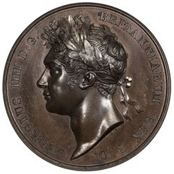 GREAT BRITAIN: George IV, 1820-1830, AE coronation medal, 1821. NGC PF64